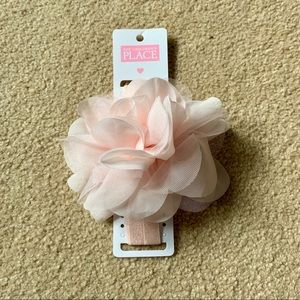 Children's Place pink bow headband NWT, OS baby